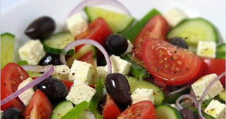 Cuisine grecque miammm salade grecque traditionnelle - Cuisine grecque traditionnelle ...