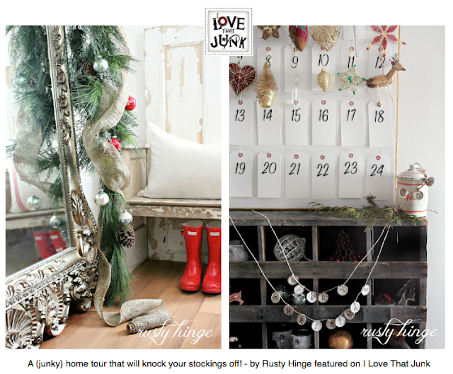 A (junky) magazine worthy Christmas Home Tour you won't believe - by Rusty Hinge featured on I Love That Junk