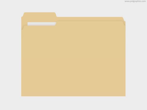 Manila Folder PSD