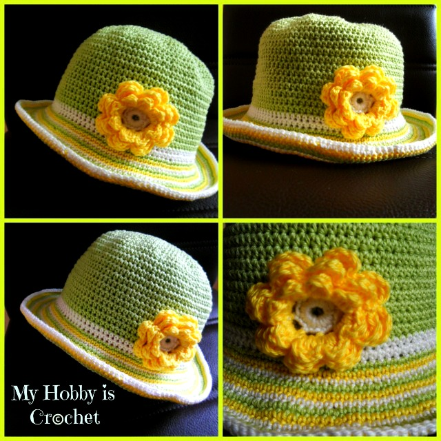 My Hobby Is Crochet How To Crochet The Brim Of A Sun Hat Free