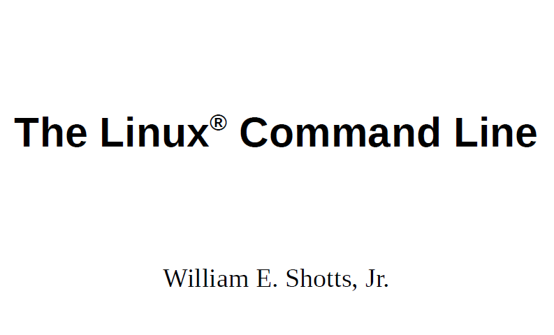 Ebook: The Linux Command Line