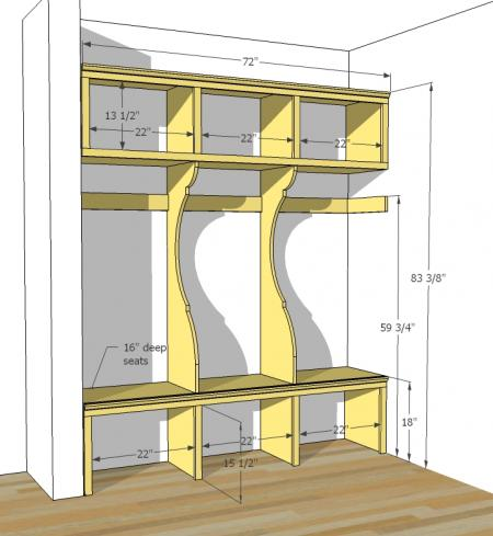 diy mudroom lockers garage mudroom makeover On garage mudroom plans