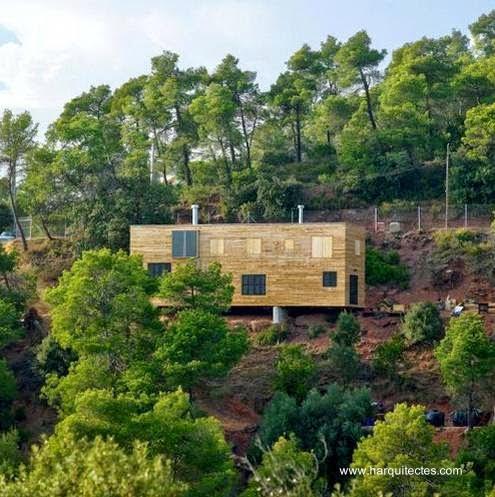 casa de madera barcelona