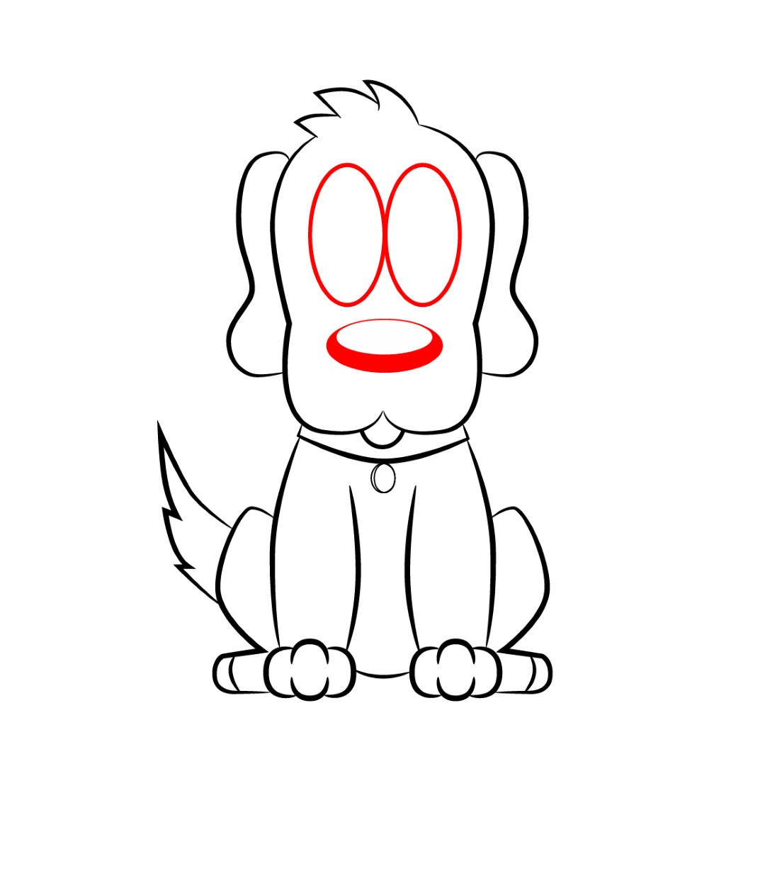 How to draw a cartoon dog - photo#6