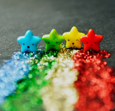 A cores...