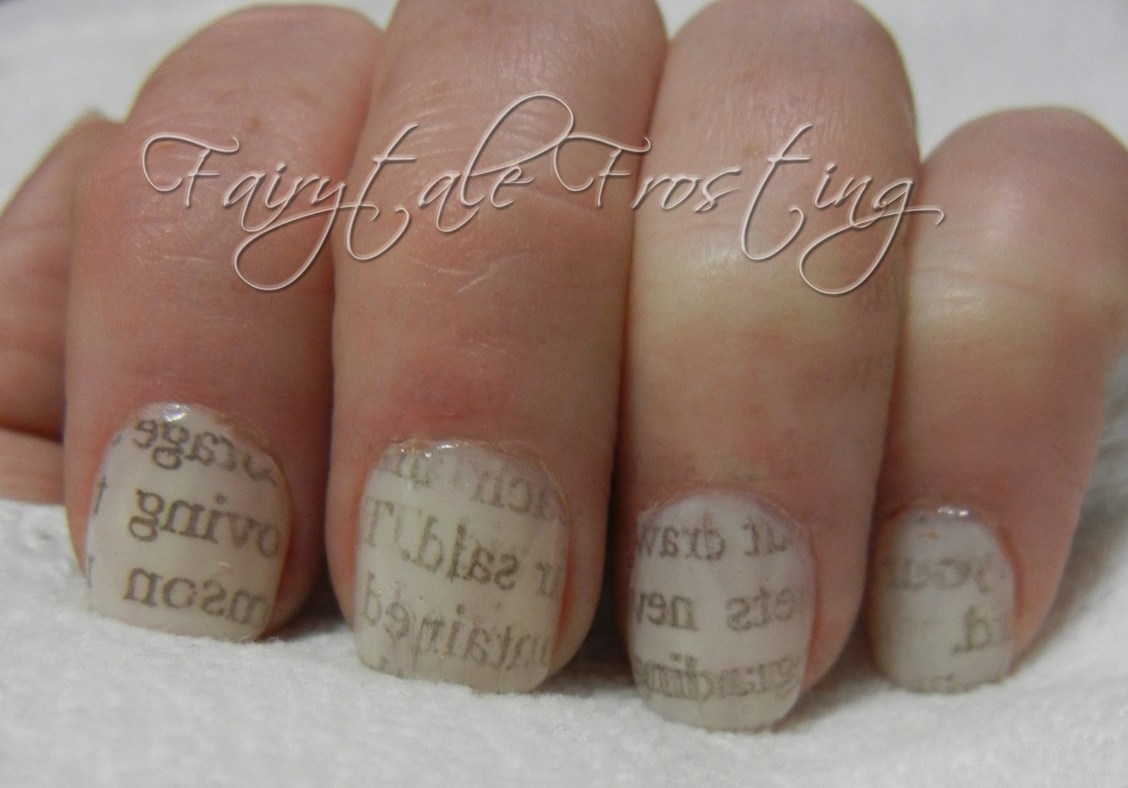 Fairytale Frosting Love Letter Nails