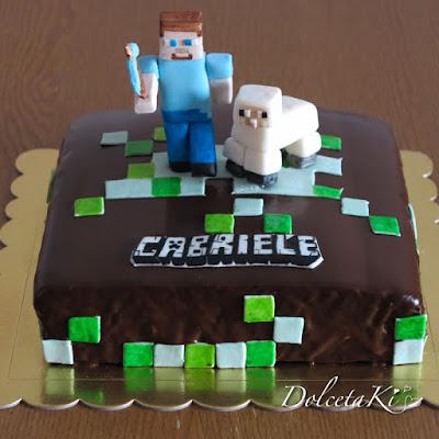 torta minecraft