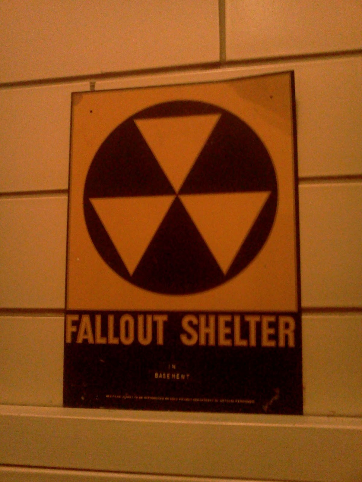 Eerie Indiana Nuclear Fall Out Shelter Sign New Albany Indiana
