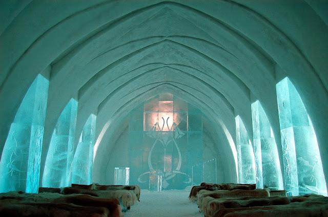 Hotel de Glace - habitación de hielo de gran tamaño para grupos