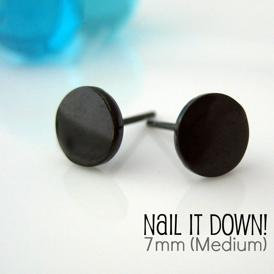 Mens earrings 4mm