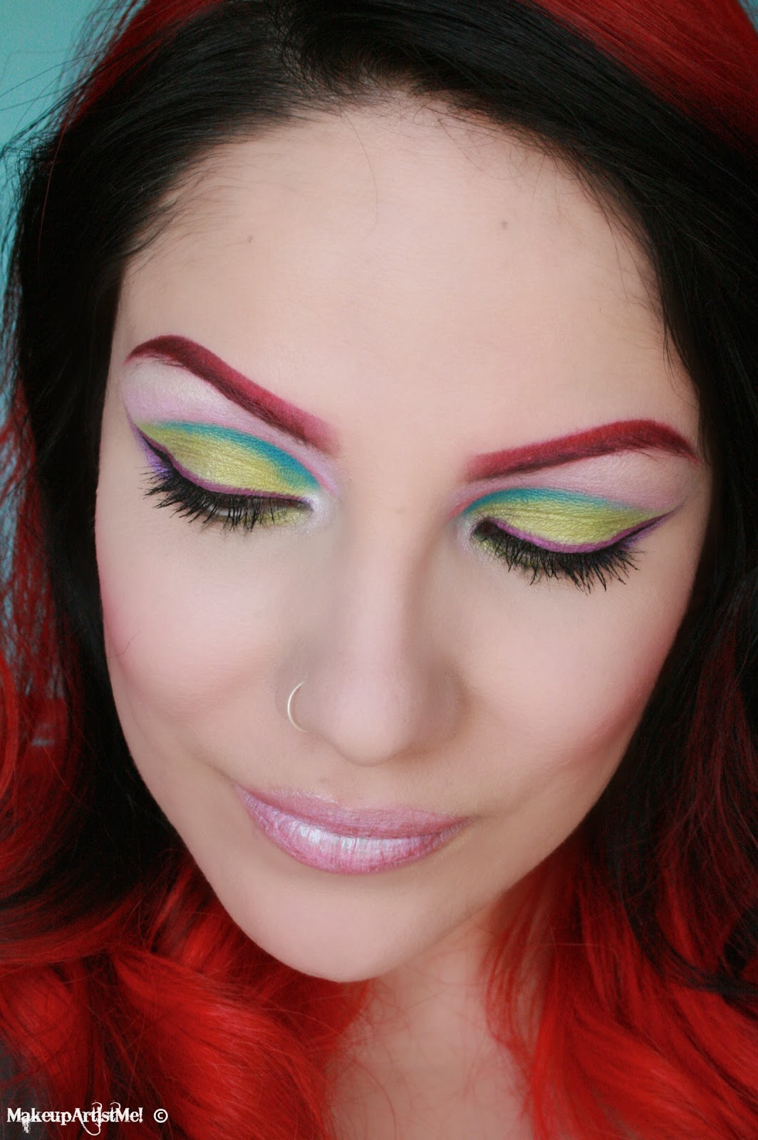 Make Up Artist Me Spring Rainbow Makeup Tutorial By