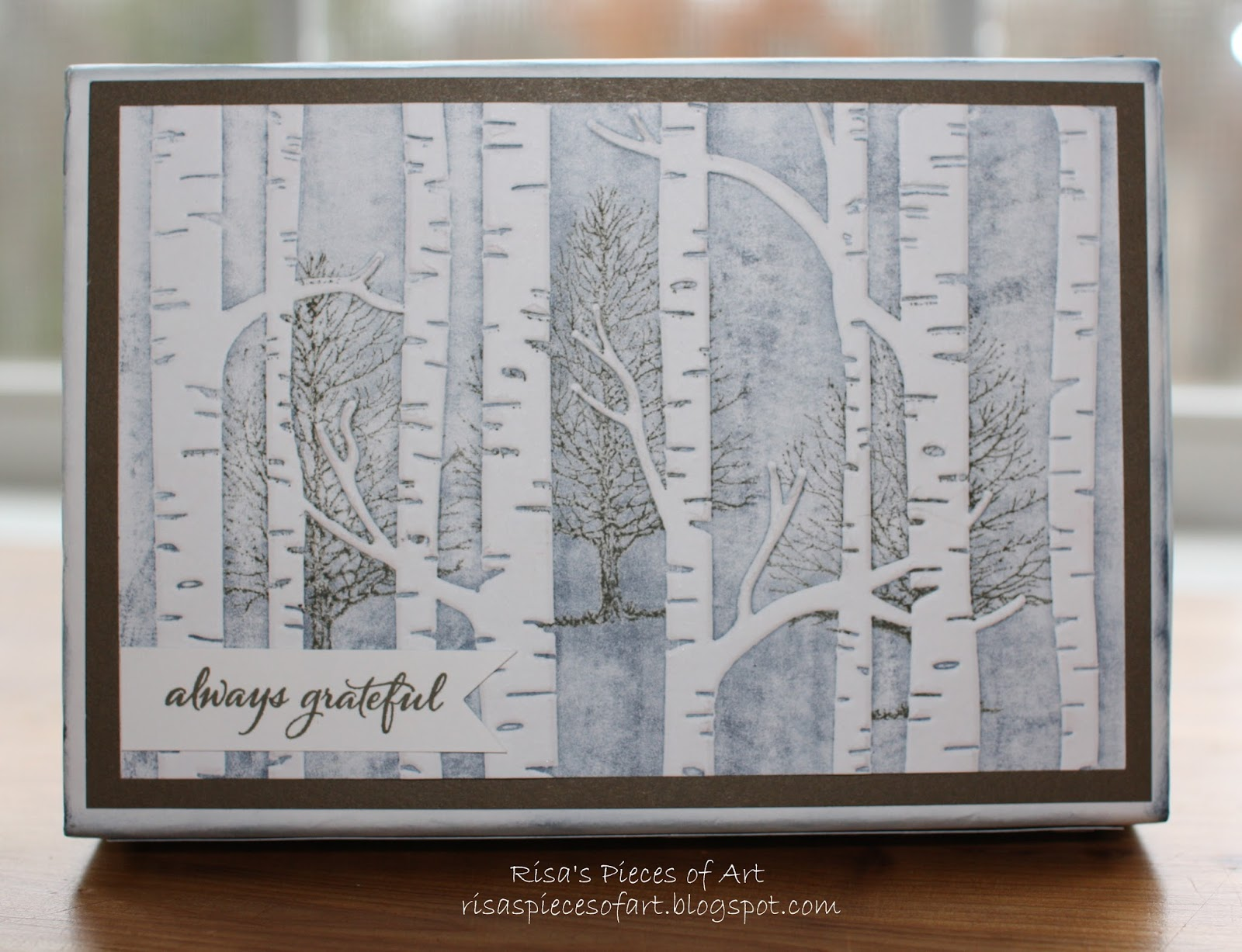 Risas Pieces Of Art Woodland Embossed Gift Box