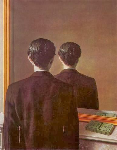 Pirandello non va pi a teatro reader 39 s bench - Magritte uomo allo specchio ...