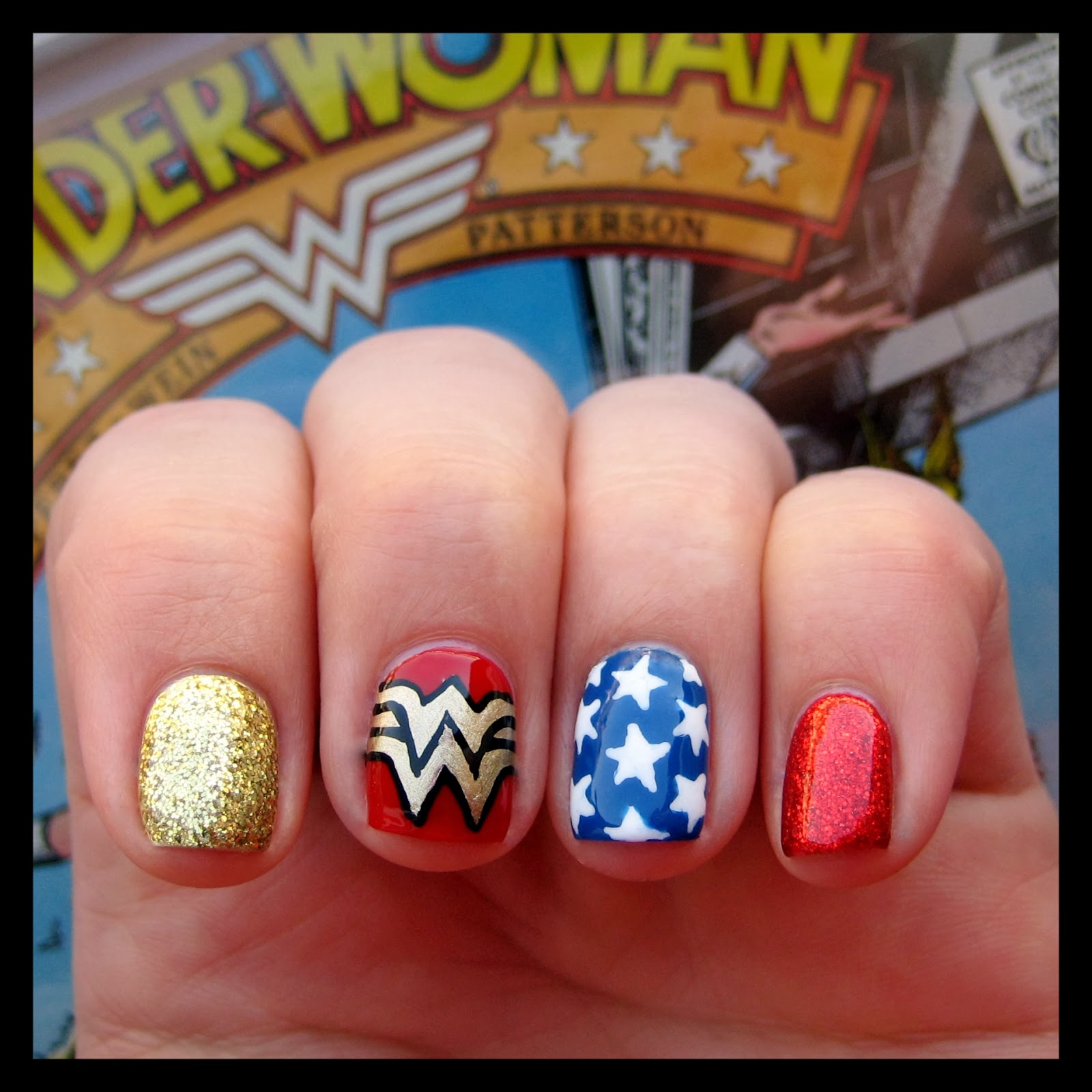 Nails Wonder Woman Can Nail Art Be Feminist: Dahlia Nails: Wonder Woman