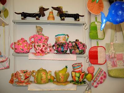 ярмарка чайные сады, текстильные чайники и чашки