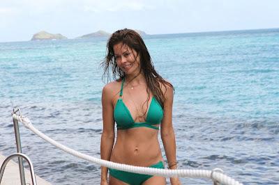 Brooke Burke in a Bikini in St. Barts