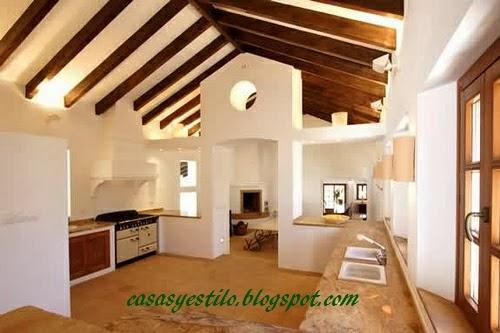 Casas de campo cocinas casas y estilo - Casa y campo decoracion ...