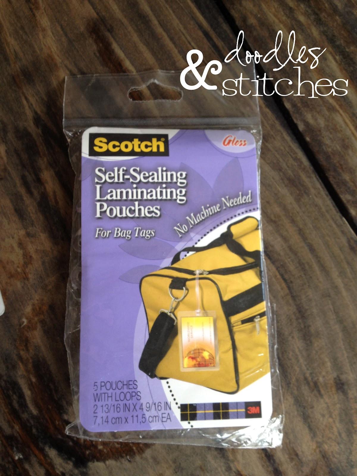 diy bag tag tutorial doodles stitches. Black Bedroom Furniture Sets. Home Design Ideas