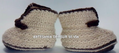 botitas de bebe ganchillo crochet 