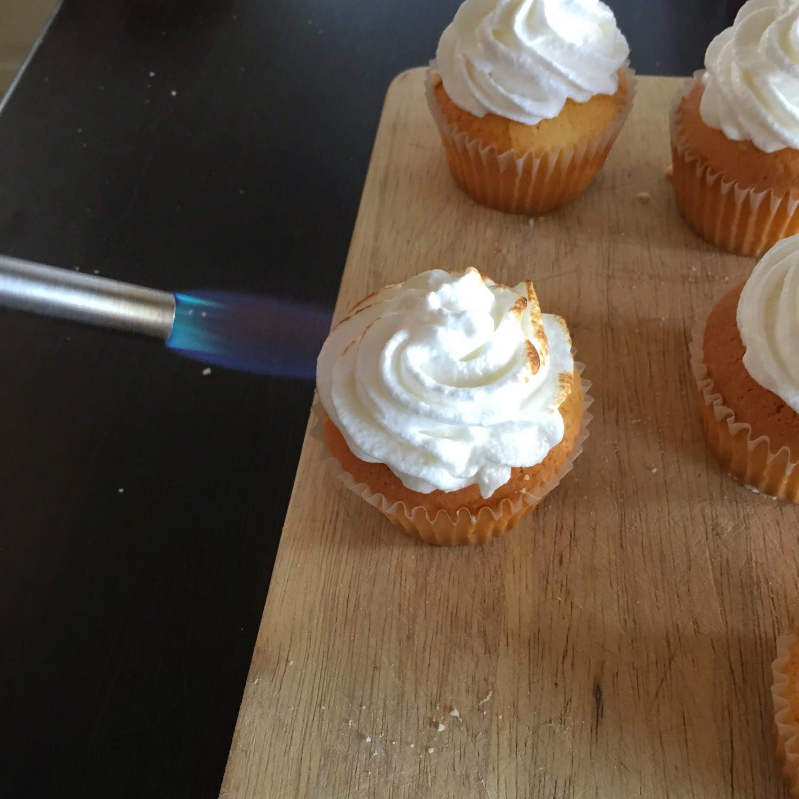 Cassie Cakes Lemon Meringue Cupcakes action shot