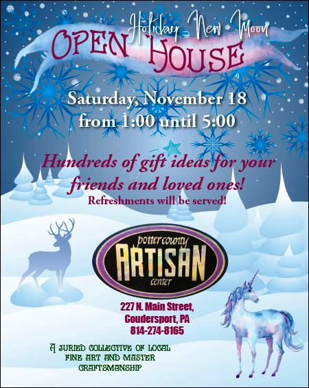 11-18 Holiday Open House, Coudersport
