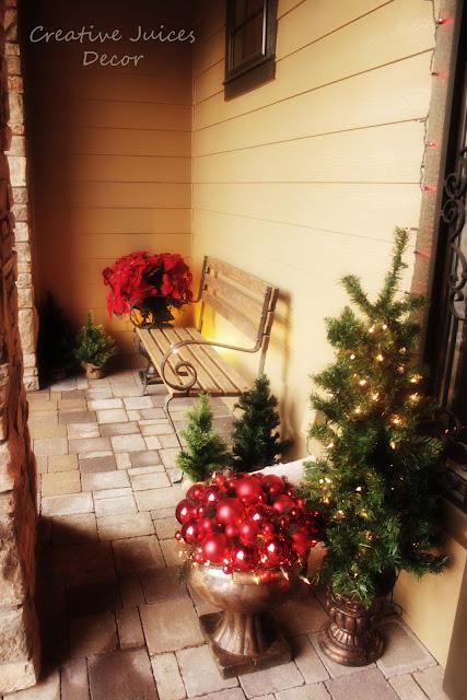 Rustic Christmas Front Porch Vignette