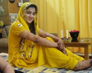Beautiful Pakistani Bridal In Yellow Dress