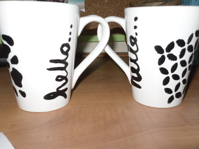 Handwriting on mugs