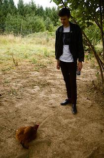 Albert Slug Guts chicken hypnotized