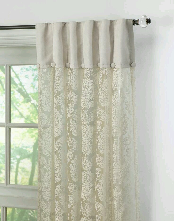 Sheer Curtains Made Of Organza / Tissue Fabric To Give A Dressy Feel;