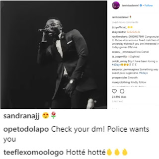 Kiss Daniel debunks arrest rumour, shares chat with Dolapo Badmus