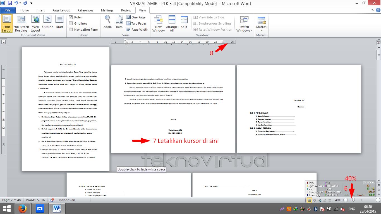 Cara Membuat Salah Satau Halaman atau Lebih Menjadi Landscape Pada Microsoft Office Word 3