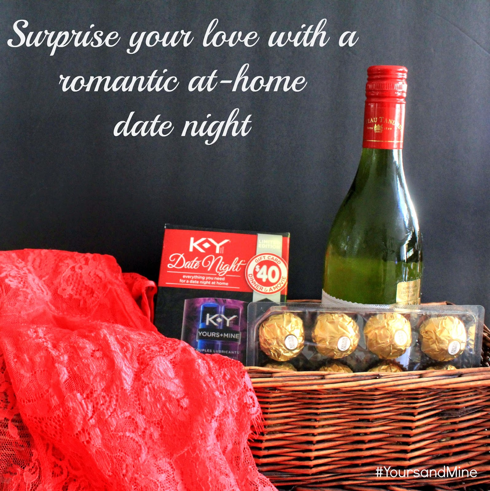 Surprise your love with a romantic st-home date night! #YoursandMine #ad