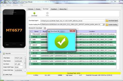 Cara Flash Ulang Lenovo A390 Botloop Dengan SP Flash Tool