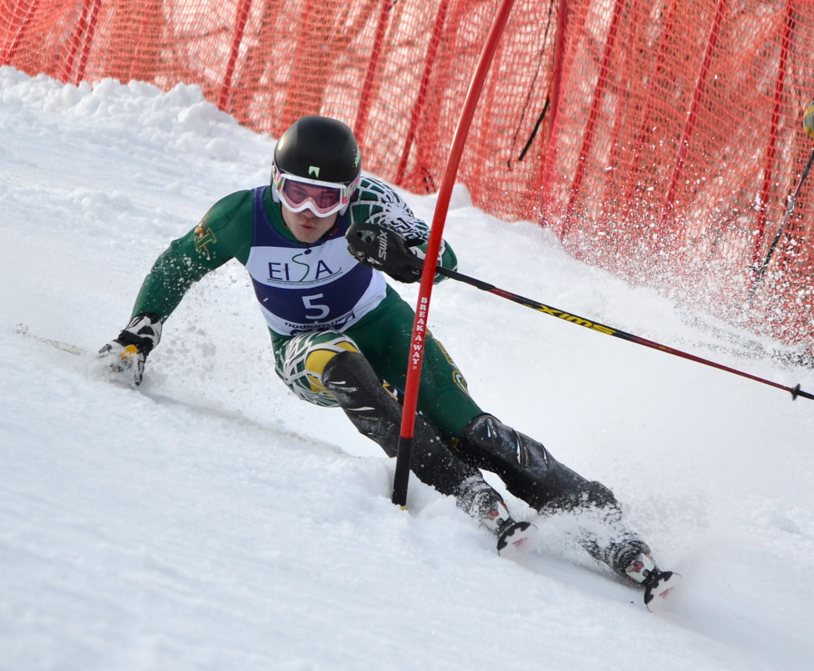 Alpine ski resorts plagued by lack of snow - Uvm S Sean Higgins On His Way To The Win Photo By C J Feehan
