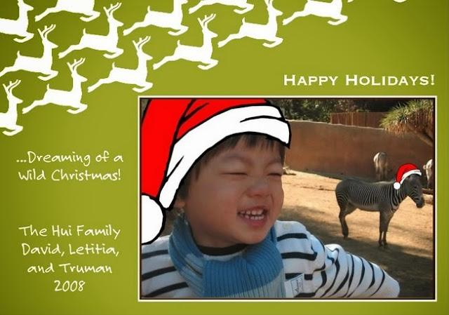 Wild Christmas Holiday Card 2008