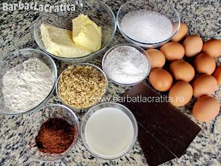 Prajitura cu cocos, nuca si crema ingrediente reteta