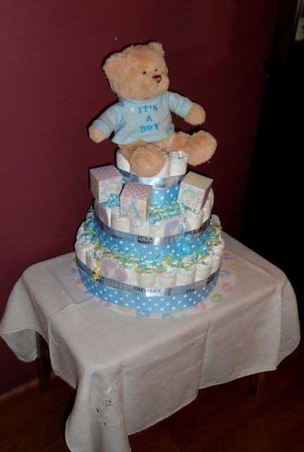 cutest diaper cake one of my friends made for me