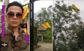 Dũng Phi Hổ từng bị chính quyền địa phương tại nơi y cư trú xử lý hành chính về treo cờ VNCH, gây mất trật tự công cộng.