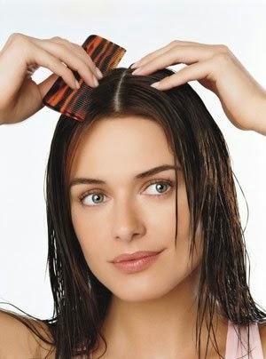 kesan sikat rambut basah