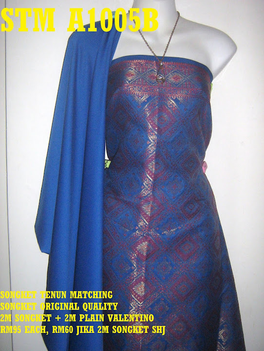 STM A1005B: SONGKET TENUN MATCHING, HIGH QUALITY, 2M SONGKET + 2M PLAIN