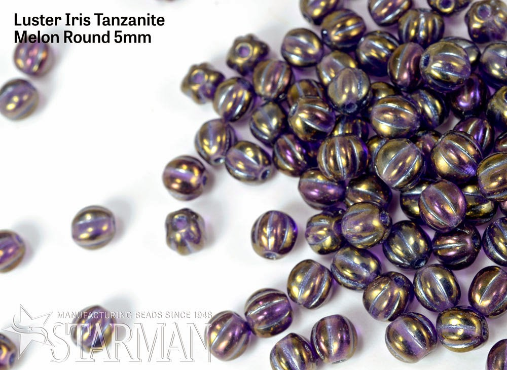 Melon Round 5mm : Luster Iris - Tanzanite (287-05-LR2051)