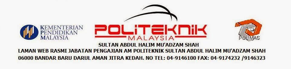 JABATAN PENGAJIAN AM POLITEKNIK SULTAN ABDUL HALIM MUADZAM SHAH 06000 JITRA KEDAH.