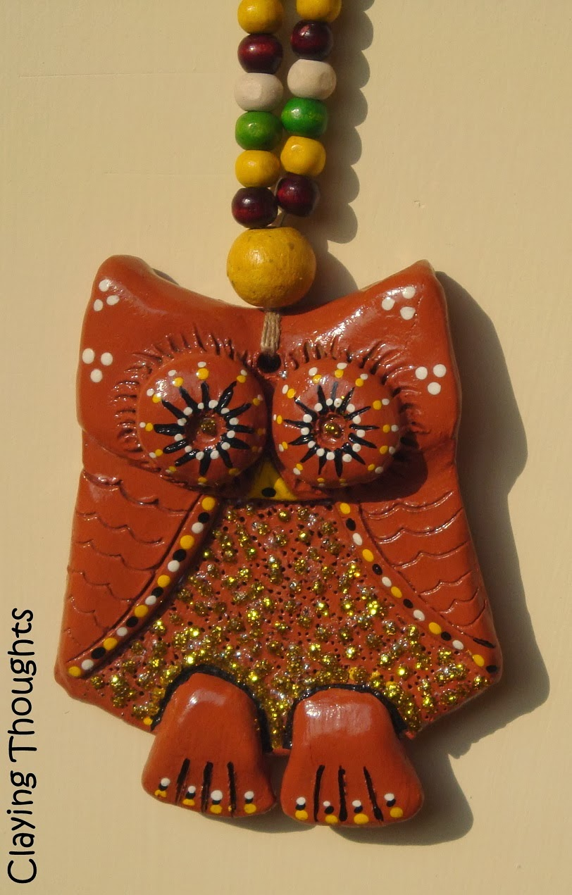 Handmade Terracotta Owls