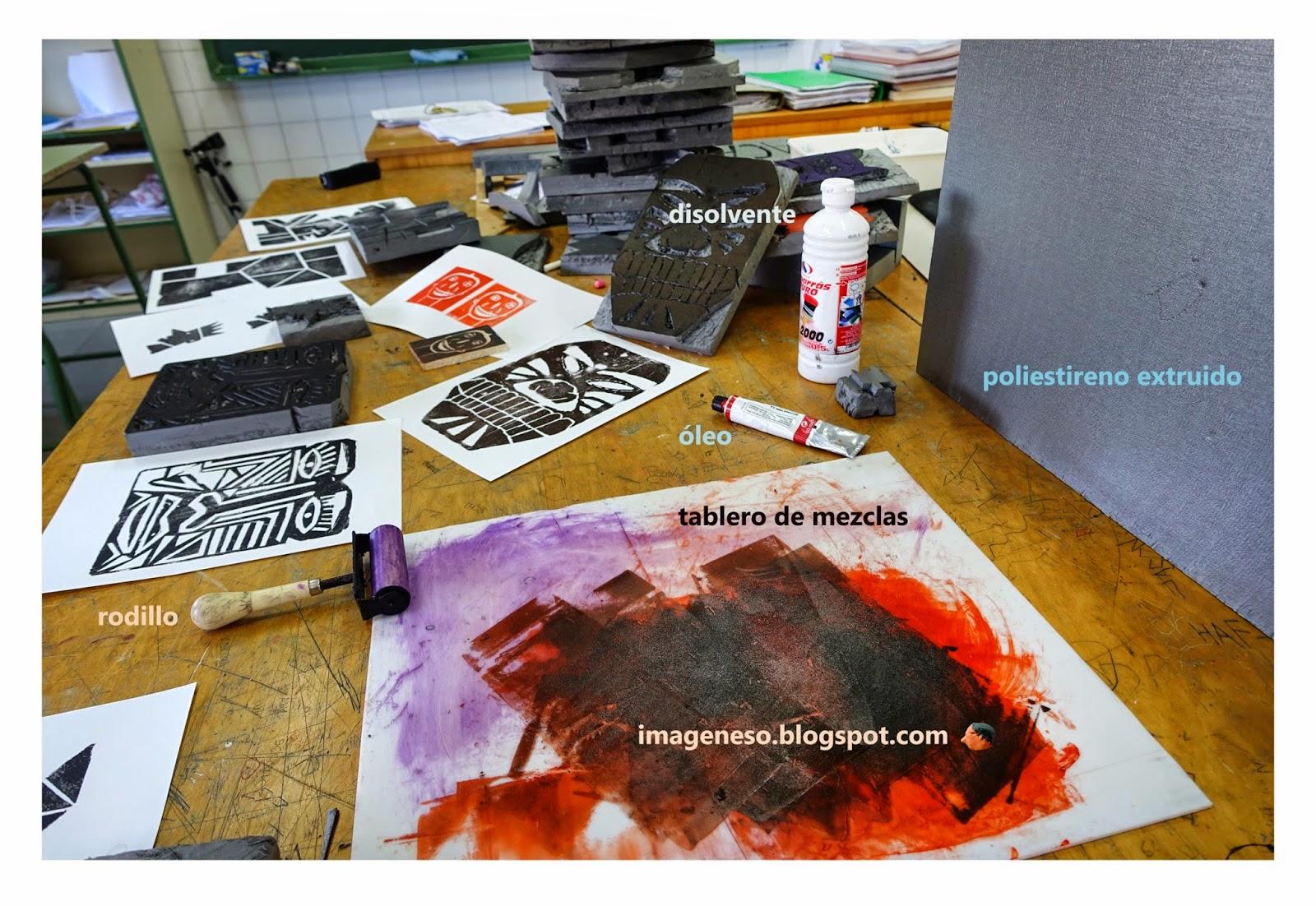 Estampando con poliestireno extruido imagenesola imagen - Planchas de poliestireno extruido ...