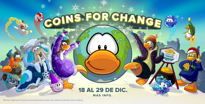 Coins For Change Club Penguin Diciembre 2014