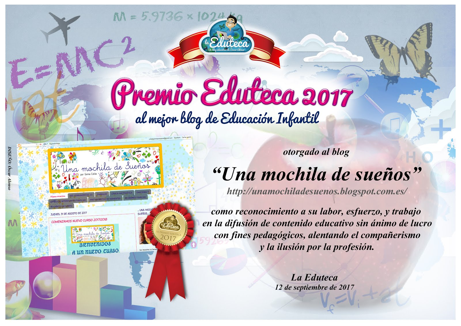 PREMIO EDUTECA 2017. AL MEJOR BLOG DE EDUCACIÓN INFANTIL