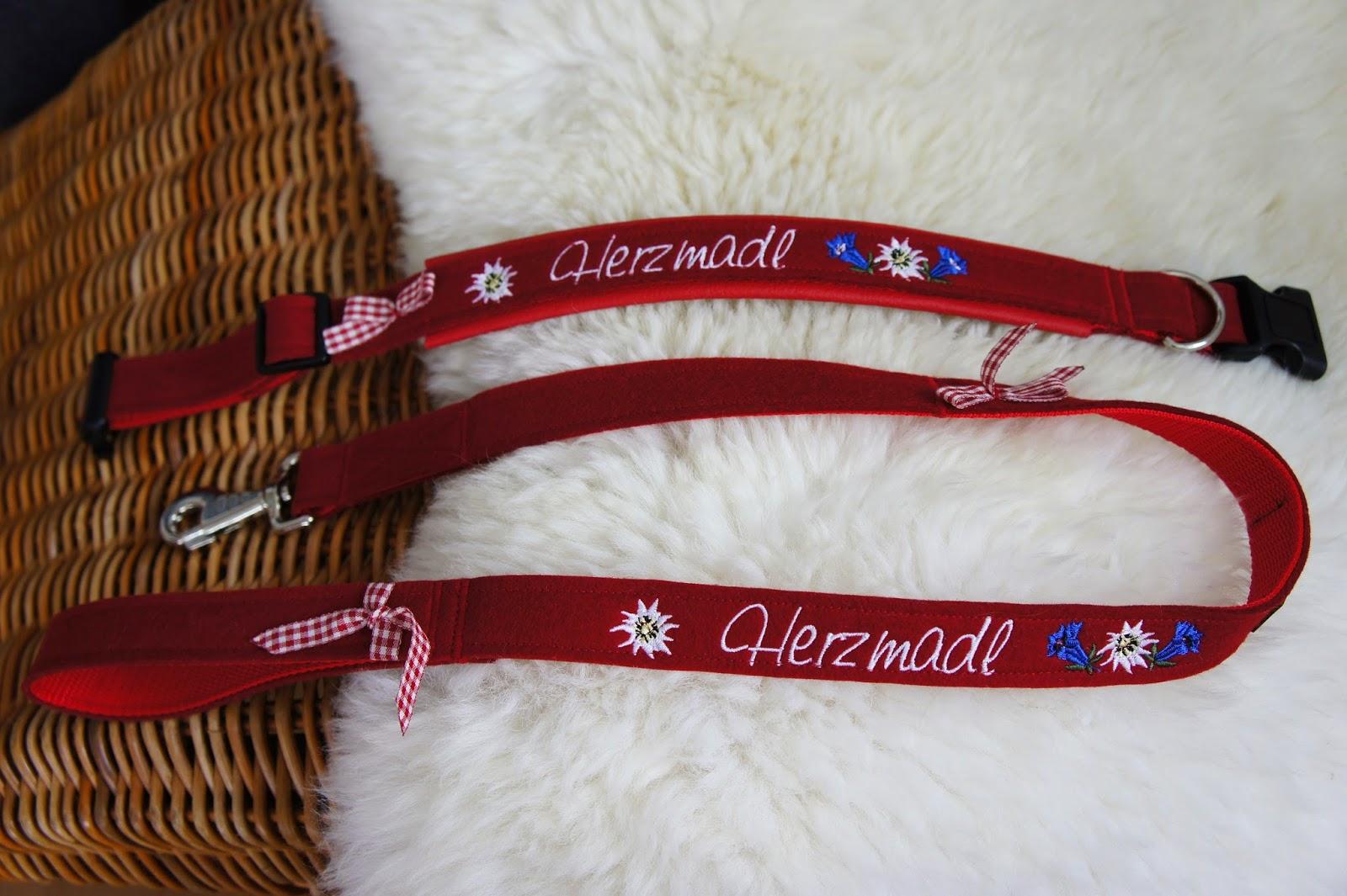 Hundehalsband mit Leine im Alpenlook Hundmali | Chillibe