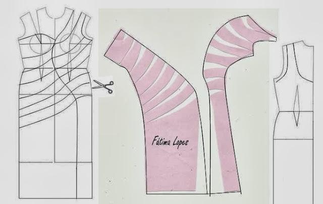 Выкройка платья с ассиметричными плечами
