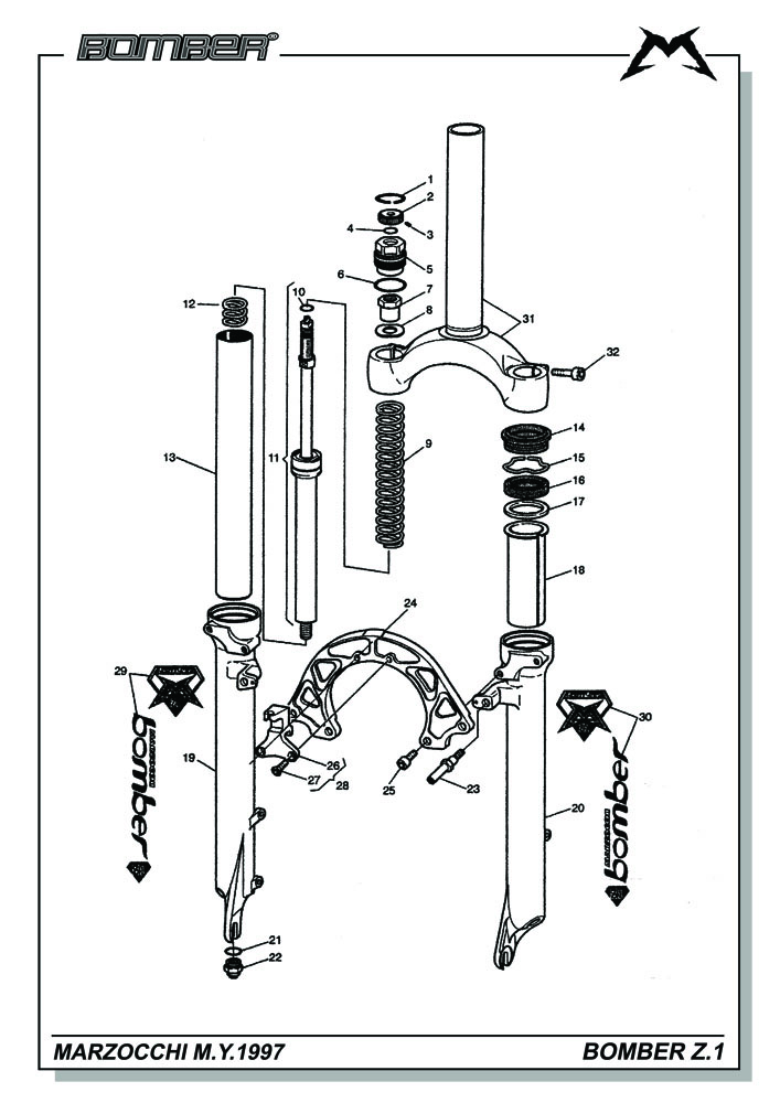 Diagram Of A Fork : Diagram cartridge forks free engine image for